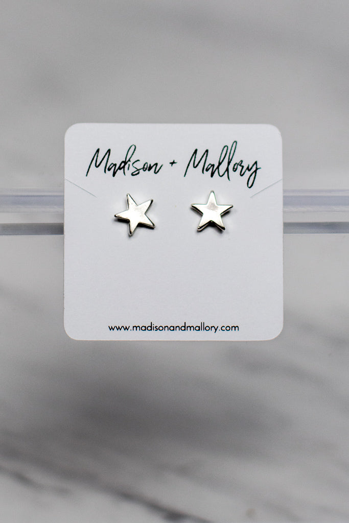 OS / Silver Awaken Your Magic Star Earrings - Madison + Mallory
