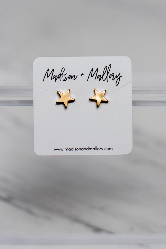 OS / Gold Awaken Your Magic Star Earrings - Madison + Mallory