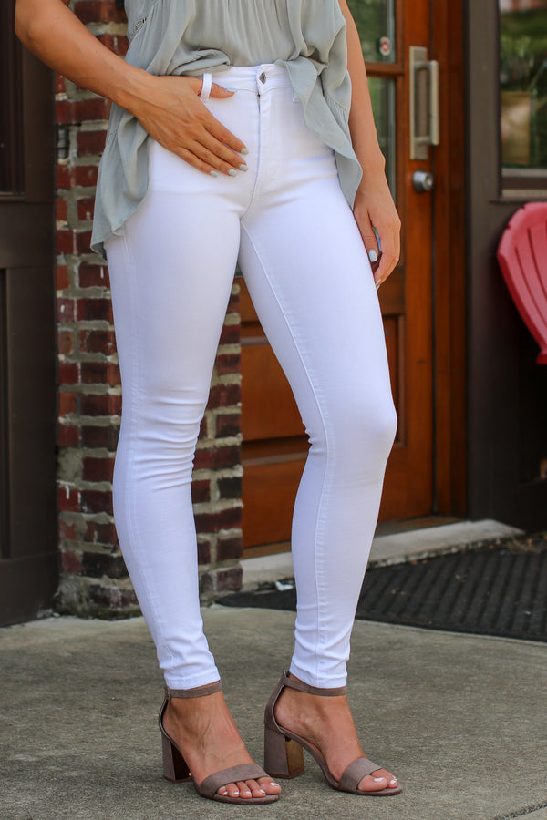 Heidi White Jeans - Madison + Mallory