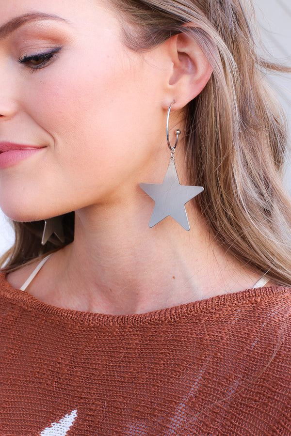 OS / Silver A Star is Born Earrings - Madison + Mallory