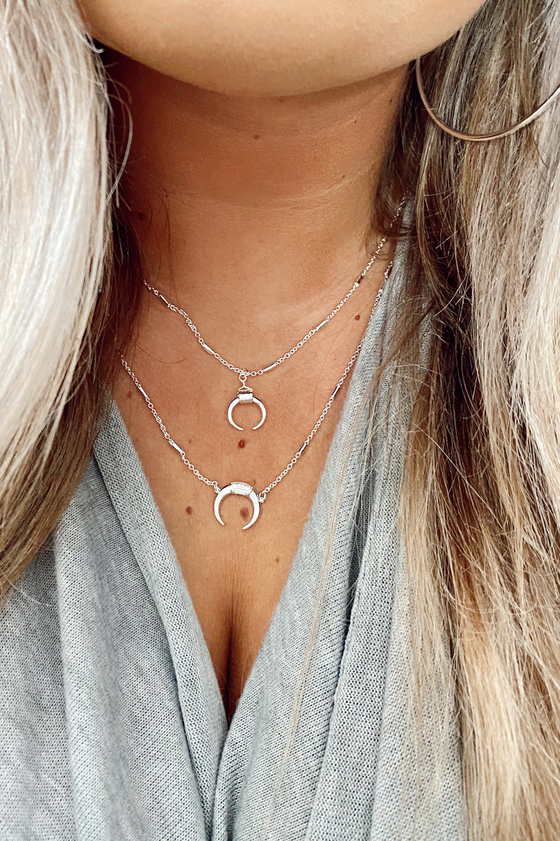 Irving Crescent Layered Necklace - Madison and Mallory