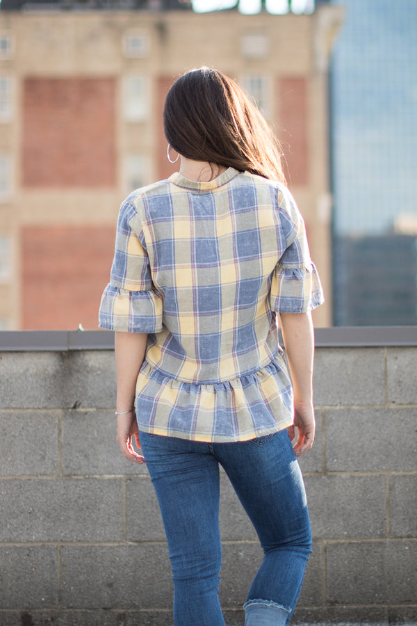 Mad about Plaid Top - Madison + Mallory