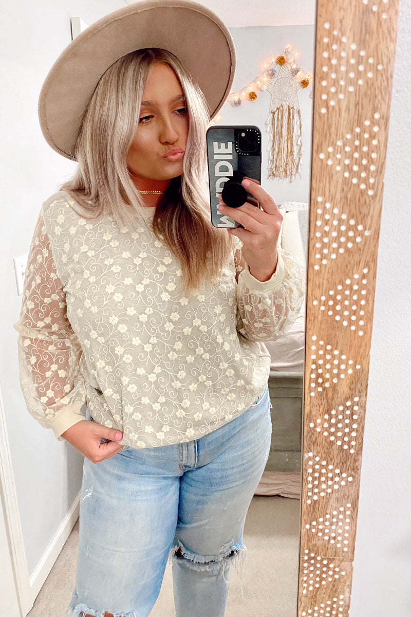 Where there is Love Floral Embroidered Top - Madison and Mallory