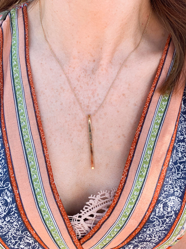 Let it Go Drop Bar Necklace - Madison + Mallory