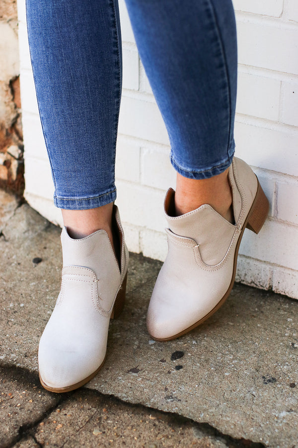 Market Street Faux Leather Booties - Madison + Mallory