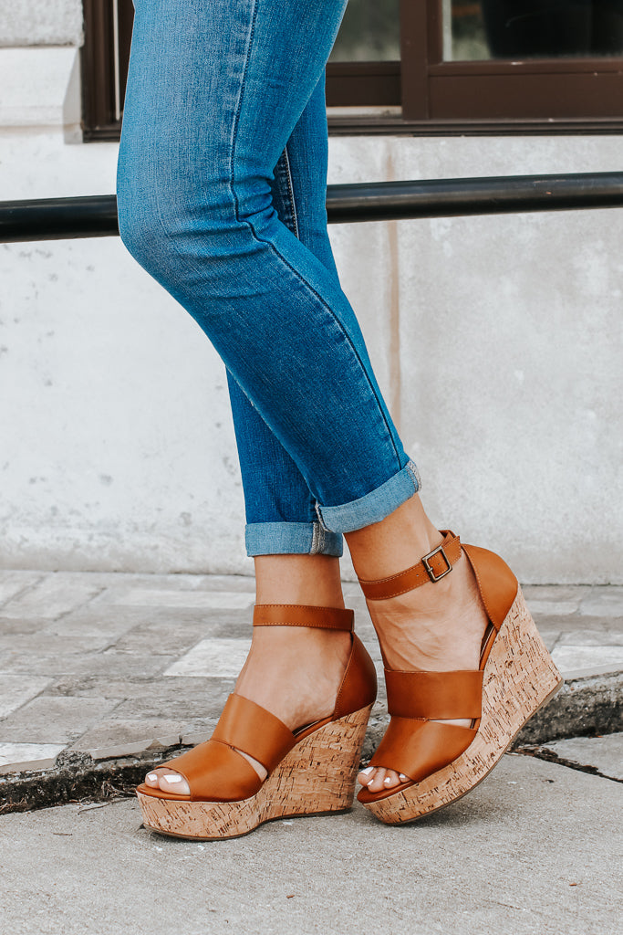 Making My Way Cutout Wedges - FINAL SALE - Madison + Mallory