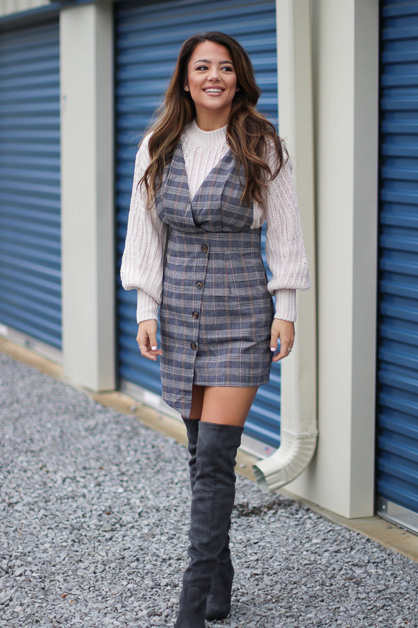 Karyn Plaid Dress - Madison + Mallory