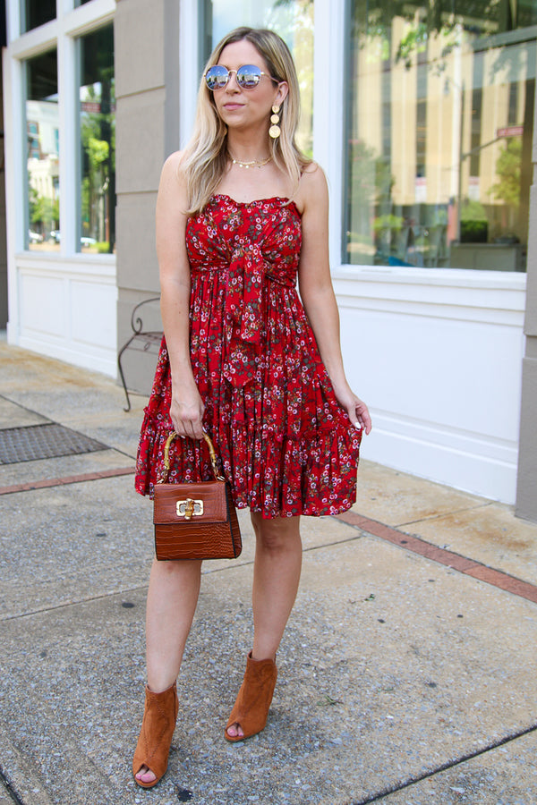 Adelie Floral Tie Knot Dress - Madison + Mallory