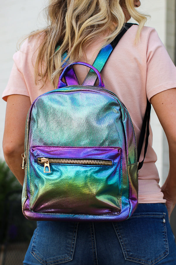 Metallic Rainbows Backpack - Madison + Mallory
