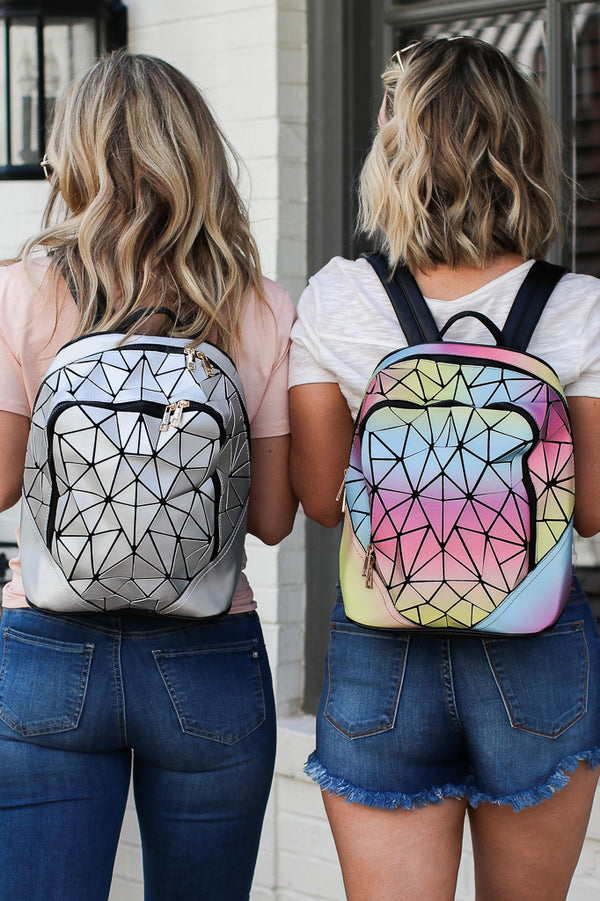 Spaceship Earth Metallic Geo Backpack + MORE COLORS - Madison + Mallory