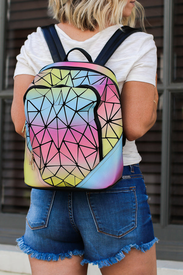 OS / Multi Spaceship Earth Metallic Geo Backpack + MORE COLORS - Madison + Mallory