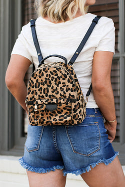 Leopard Take Me Out Leopard Backpack - Madison + Mallory