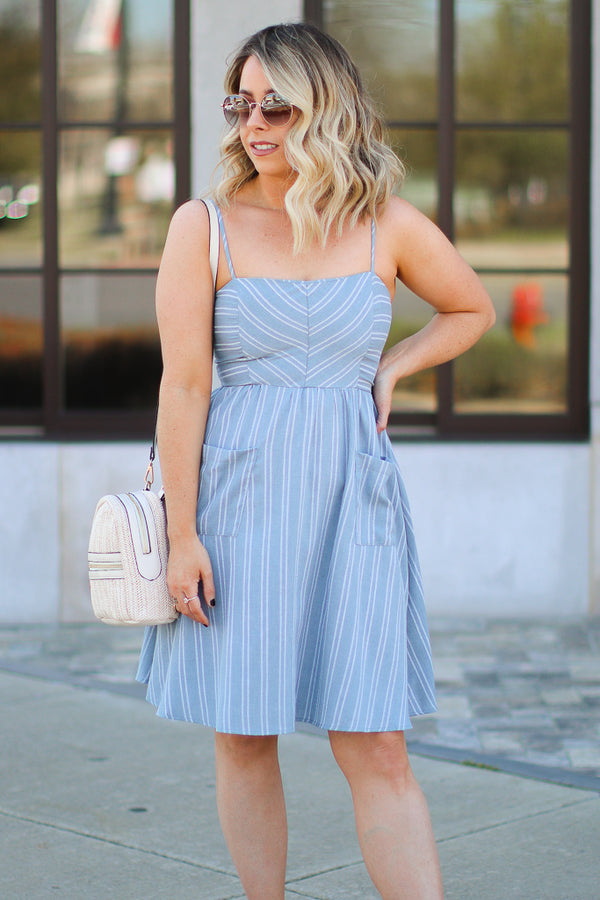 Charleston Striped Dress - FINAL SALE - Madison + Mallory