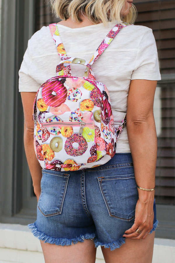 Multi Sprinkled Donuts Backpack - Madison + Mallory