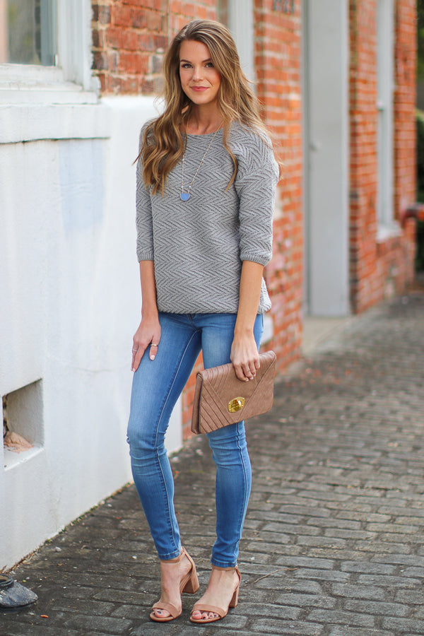 Fly By Textured Knit Sweater - Madison + Mallory