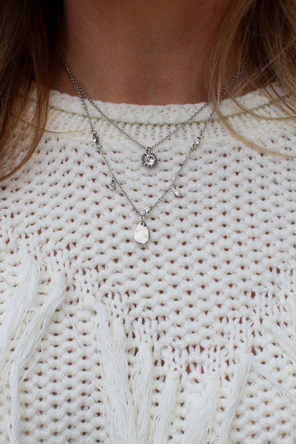 Crystal Dreams Layered Necklace - Madison + Mallory