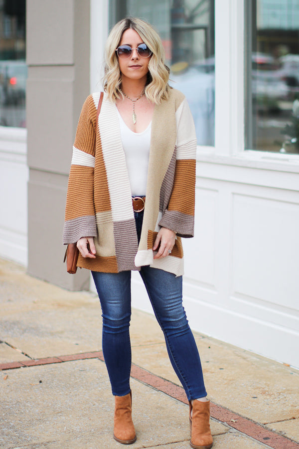 Sophie Color Block Cardigan - Madison + Mallory