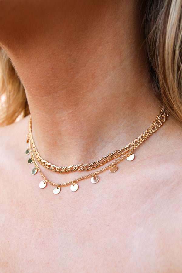 Cavalier Layered Disc Necklace - Madison + Mallory