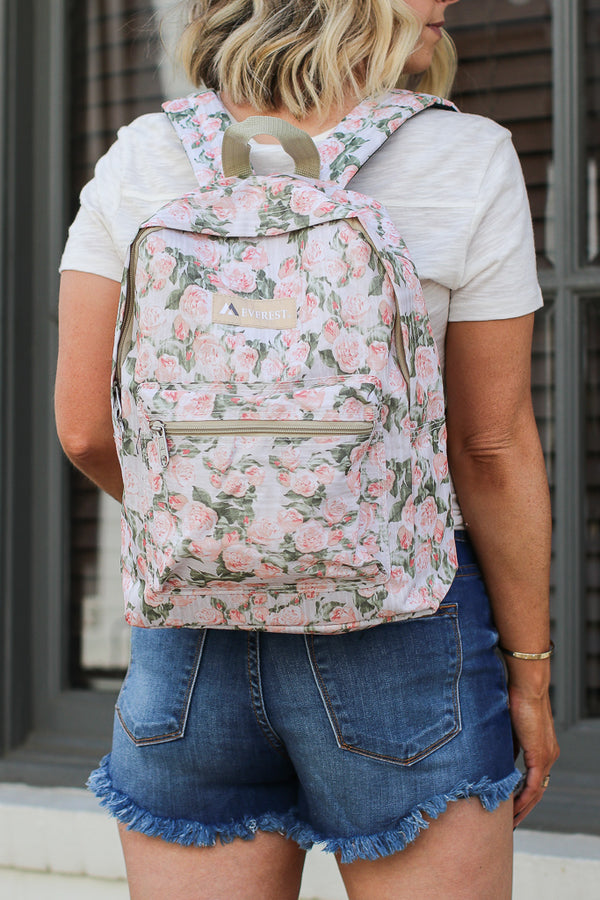 English Rose Canvas Backpack - Madison + Mallory