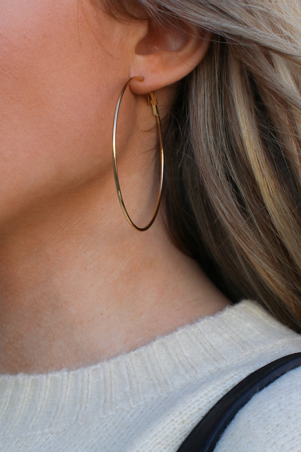 Gold Pivotal Moment Hoop Earrings - Madison and Mallory