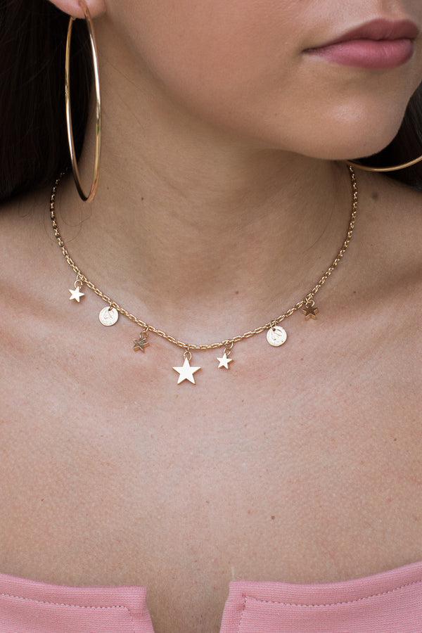 Gold Beyond Beautiful Star Choker - Madison + Mallory