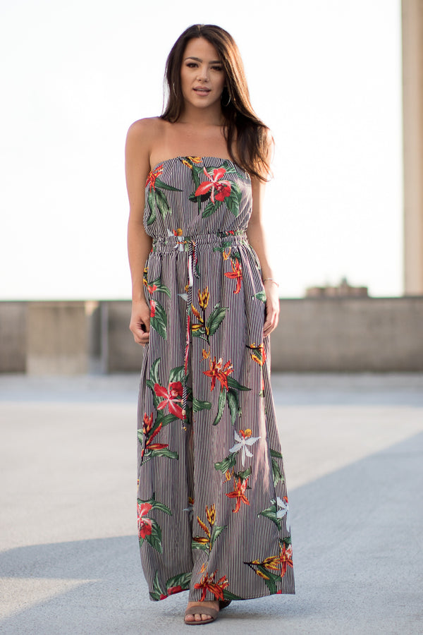 S / Black Dreaming of Paradise Jumpsuit - Madison + Mallory