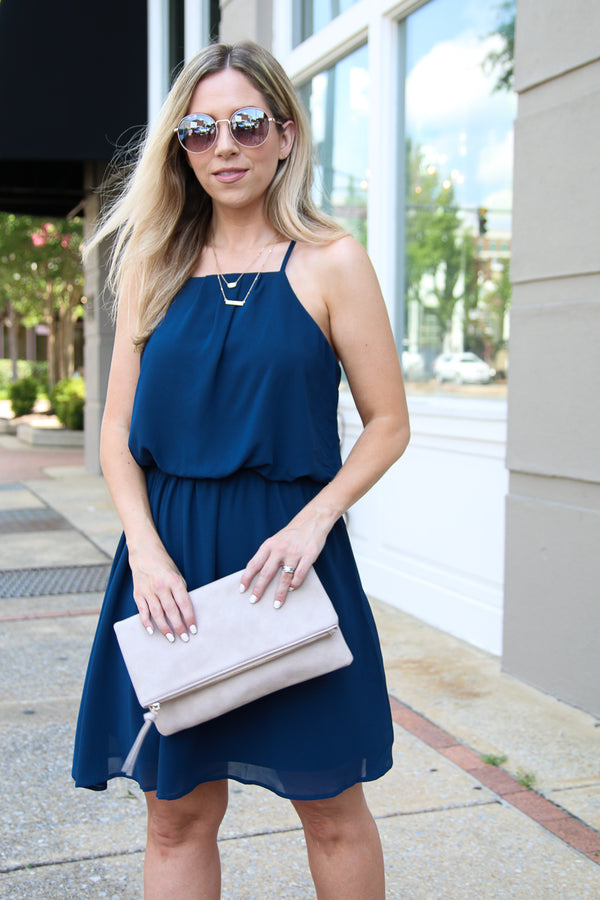 S / Teal Here's Your Chance Flowy Dress - Madison + Mallory