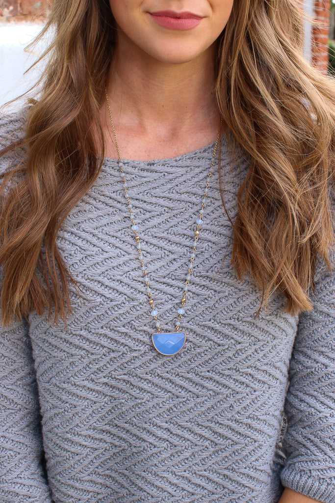 Periwinkle Riptide Beaded Necklace + MORE COLORS - Madison + Mallory