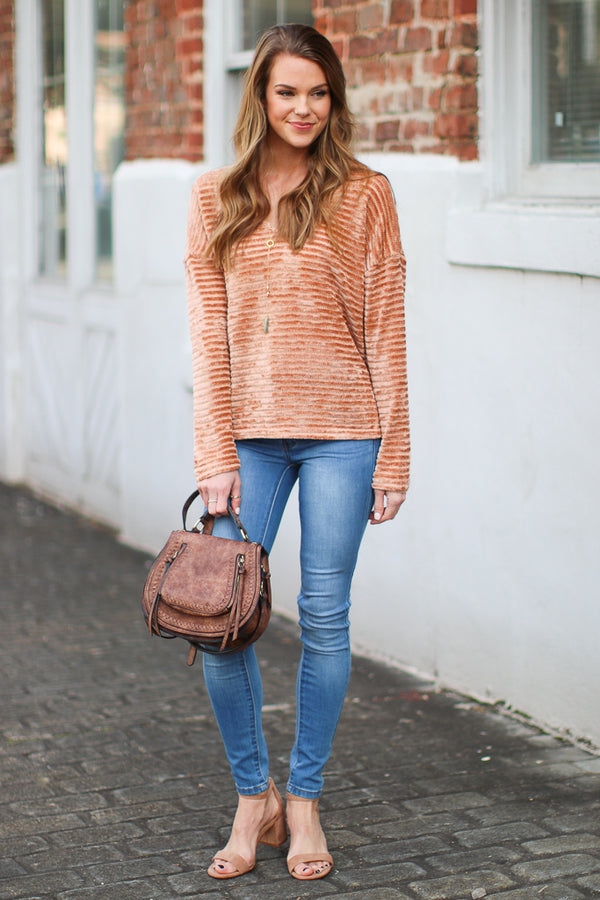 Born to Fly Chenille Sweater - Madison + Mallory