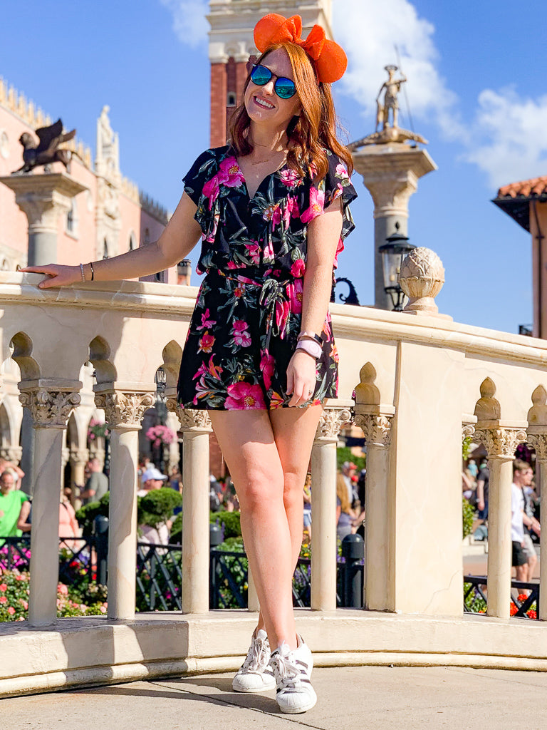 Come a Little Closer Floral Ruffle Romper | CURVE - FINAL SALE - Madison + Mallory