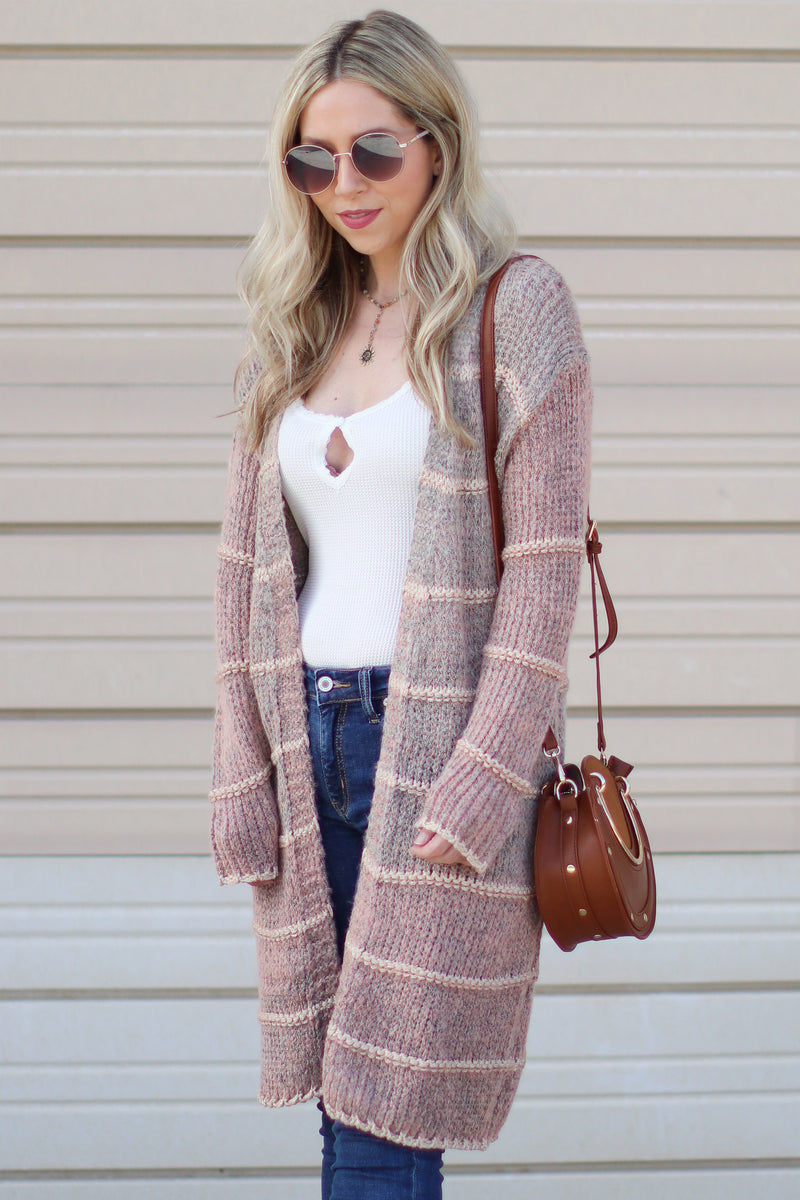 Azura Ombre Knit Cardigan - Madison + Mallory