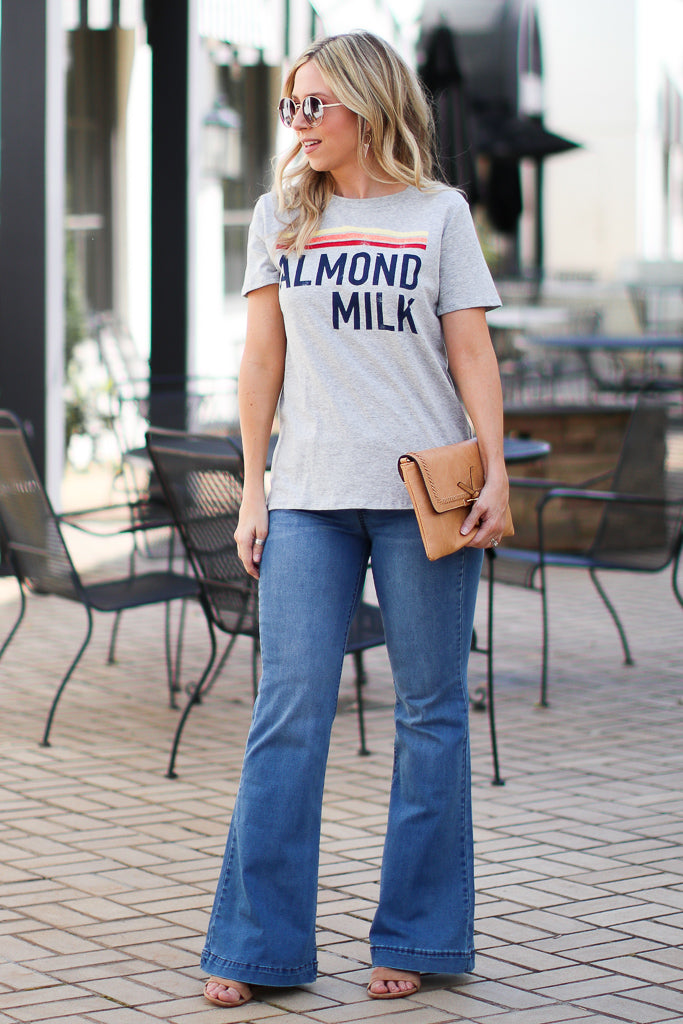 Almond Milk Graphic Top - Madison + Mallory