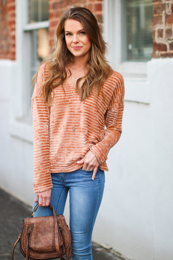 S / Ginger Born to Fly Chenille Sweater - Madison + Mallory