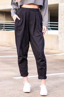 S / Black Relax and Chill Loose Fit Lounge Pants - Madison and Mallory