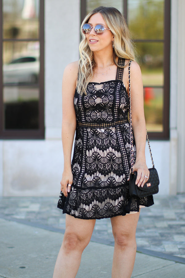 Venetia Black Lace Dress - FINAL SALE - Madison + Mallory