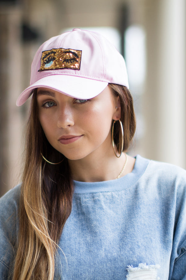 Sequin Wink Patch Hat - Madison + Mallory