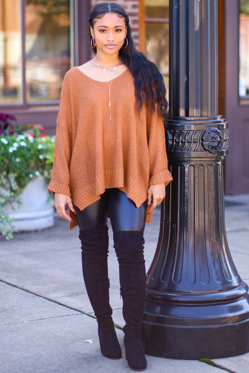 Cuddle Weather Relaxed Fit Long Sleeve Sweater - Madison and Mallory
