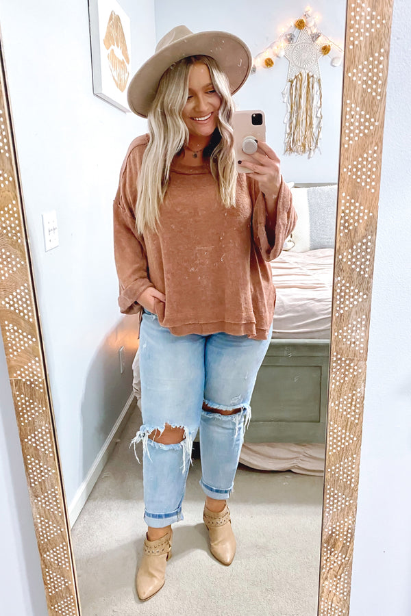 Lonnie Slouchy Knit Top - Madison and Mallory