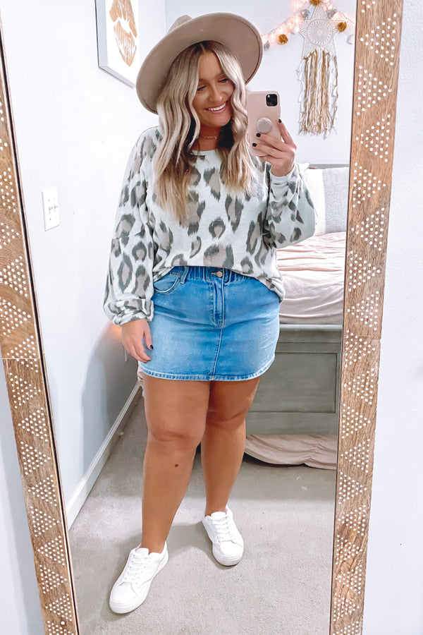 Wild Eyed Animal Print Top - Madison and Mallory