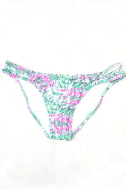 S / Multi Geo Print Strappy Bikini Bottom - FINAL SALE - Madison + Mallory