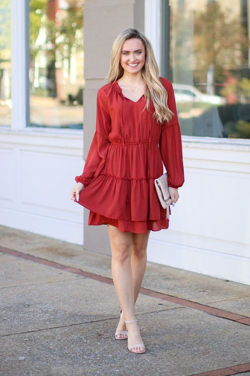 Dance Together Tiered Ruffle Dress - Madison + Mallory