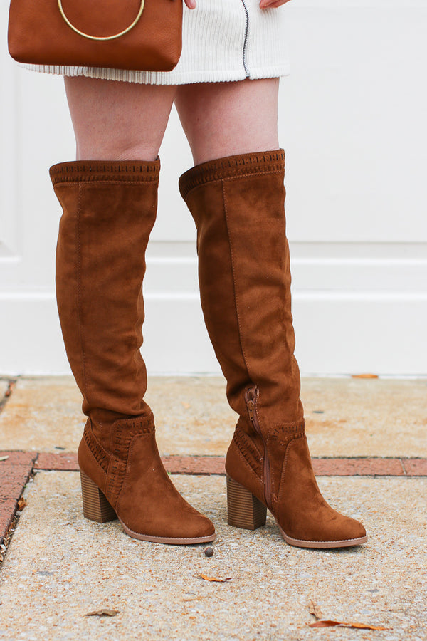 Boho Feelings Suede Heeled Boots - FINAL SALE - Madison and Mallory