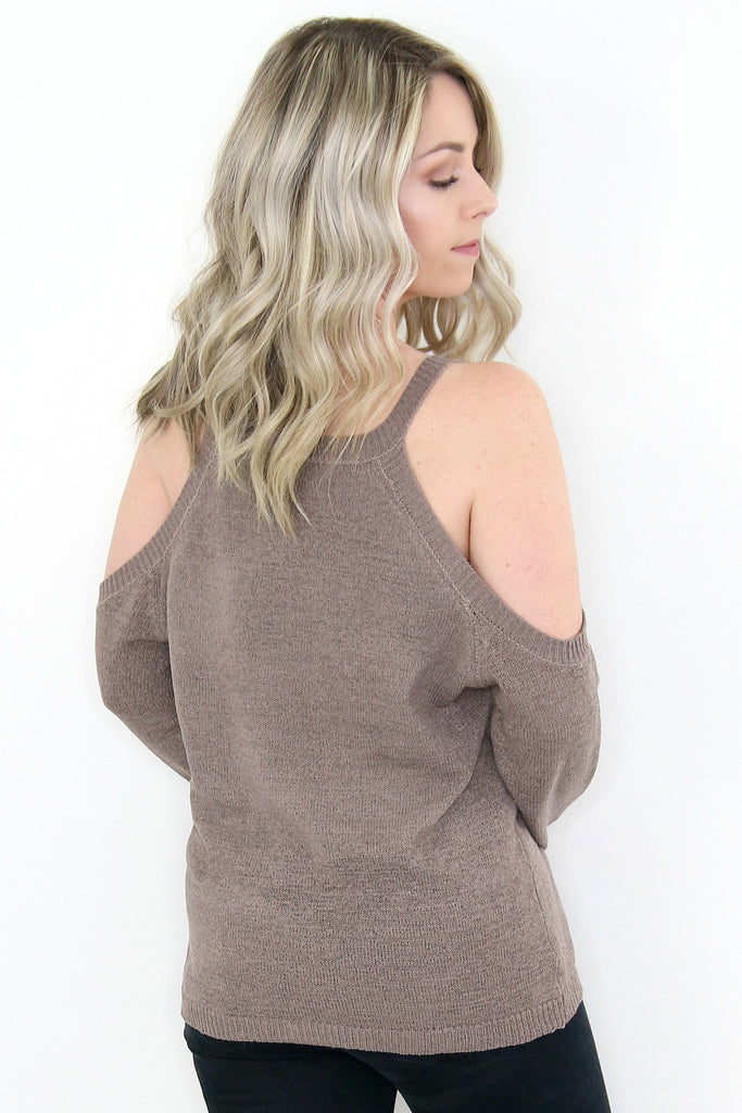 Cold Shoulder Knit Top