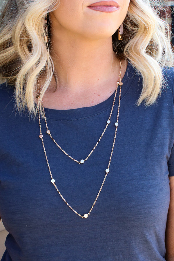 OS / Gold Cupertino Layered Disc Necklace - Madison + Mallory