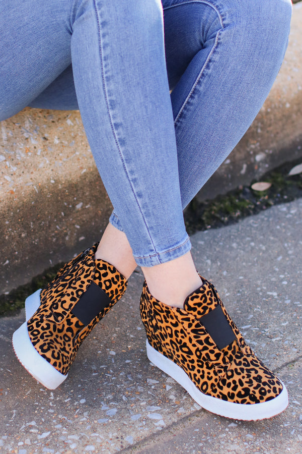 Leopard / 6 Rodina Wedge Sneaker - Leopard - Madison and Mallory