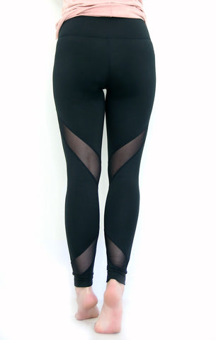 Mesh Detail Accent Leggings - Madison + Mallory