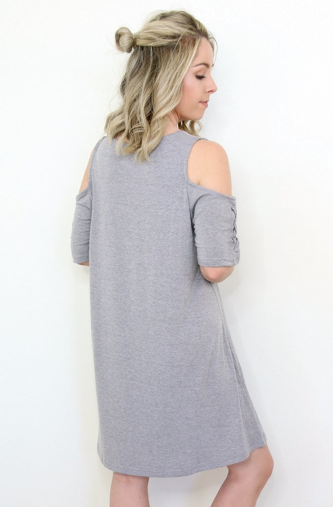 Cold Shoulder Jersey Dress | Curve