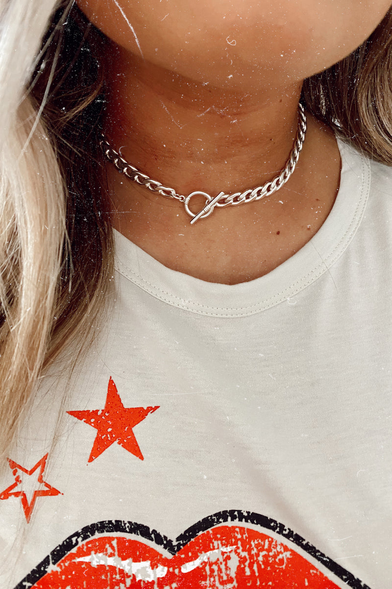 Silver Link Up Later Chain Necklace - Madison and Mallory