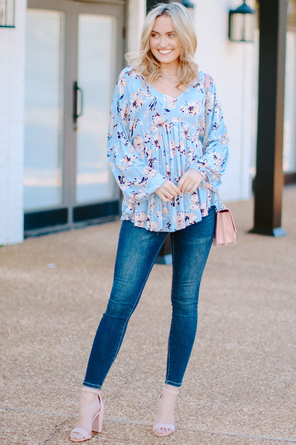 Cecelia Floral Babydoll Top - Madison + Mallory