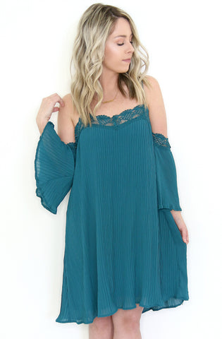 Chambray Tassel Trim Maxi Dress
